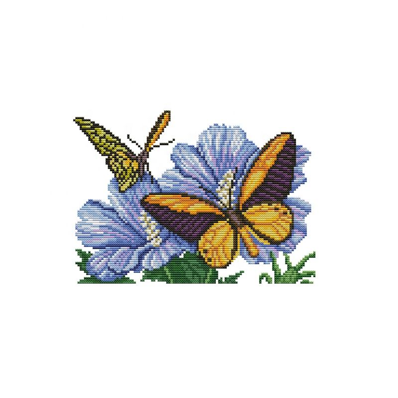 Monarch Butterfly~counted cross stitch pattern #878~Butterflies Flower Chart