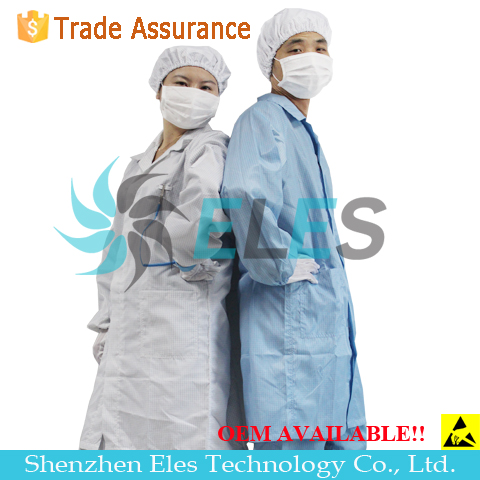 Class 1000 esd cleanroom workwear clothes/esd safety clothes