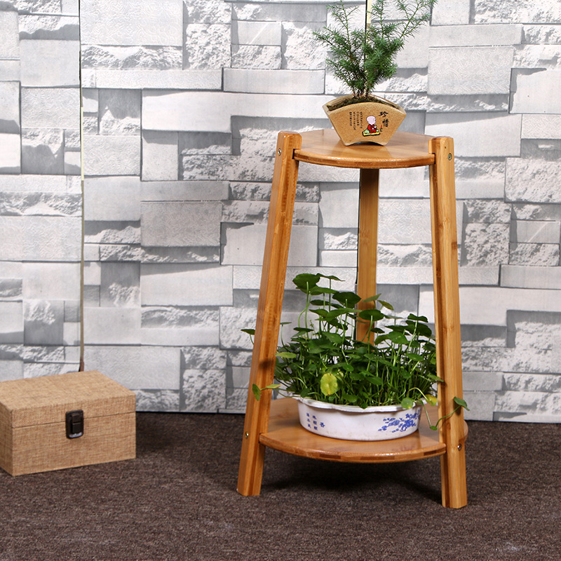 2019 hoge kwaliteit 3 tiers vouwen bamboe hout bloem plant pot plank rack stand