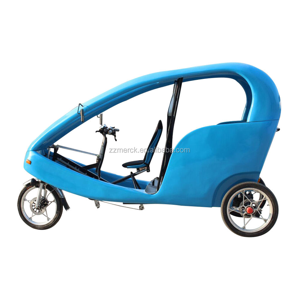 48V 500W Passenger Transport Three Wheeler Tricycle Electric Velo Taxi for Sale