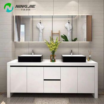 Double Sink Mirror Bathroom Cabinet