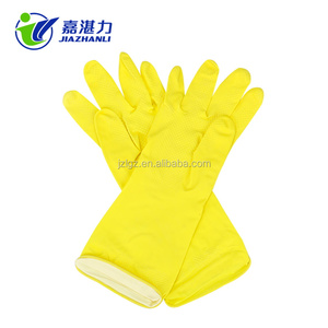 flock lined latex kitchen household gloves