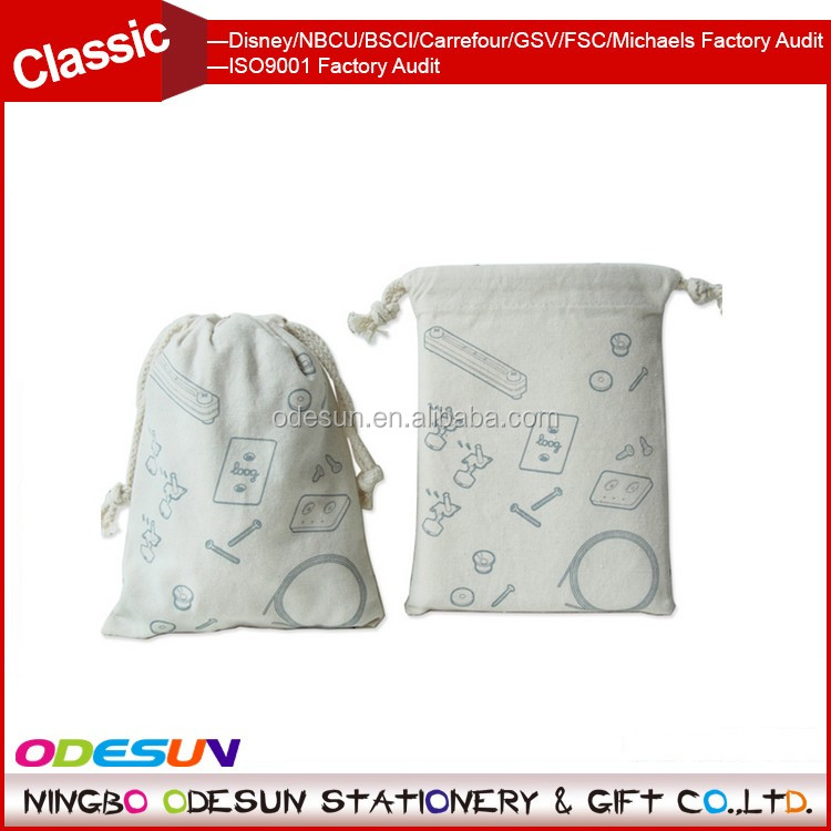 Michaels Sedex FSC Big Lots Walmart ISO 9001 Factory Audit Manufacturer Promotional Gift Drawstring Bag Cotton Customised Logo