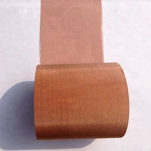 Good electrical conductivity 50 60 70 mesh red copper wire mesh screen