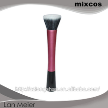 Wholesale China makeup brush set / black goat hair mix with synthetic pro stippling brush