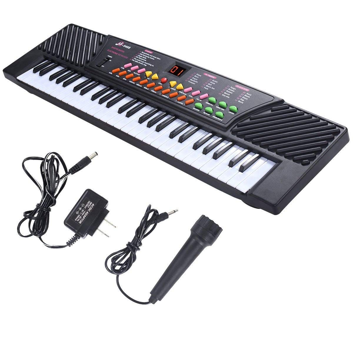 buy black 54 keys music electronic keyboard key board kids gift electric piano organ in cheap. Black Bedroom Furniture Sets. Home Design Ideas