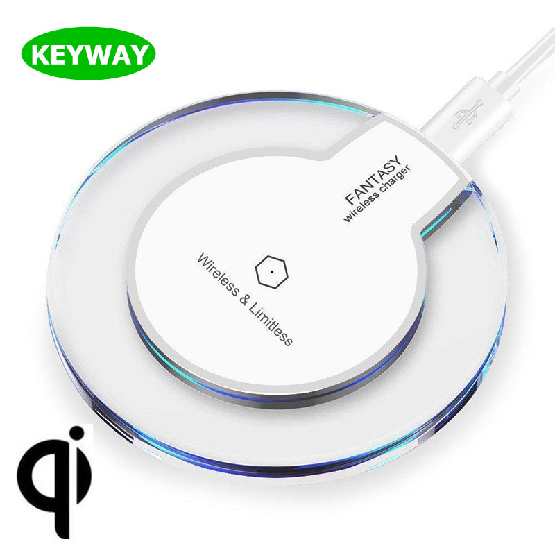 NO.1 Wireless Charger Factory Round Crystal UFO Transparent LED Qi Wireless Charger for Iphone 8 Plus