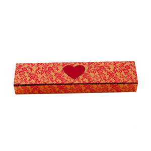 Cloth Finish Red Bride Cardboard Wedding Necklace Jewelry Gift Box