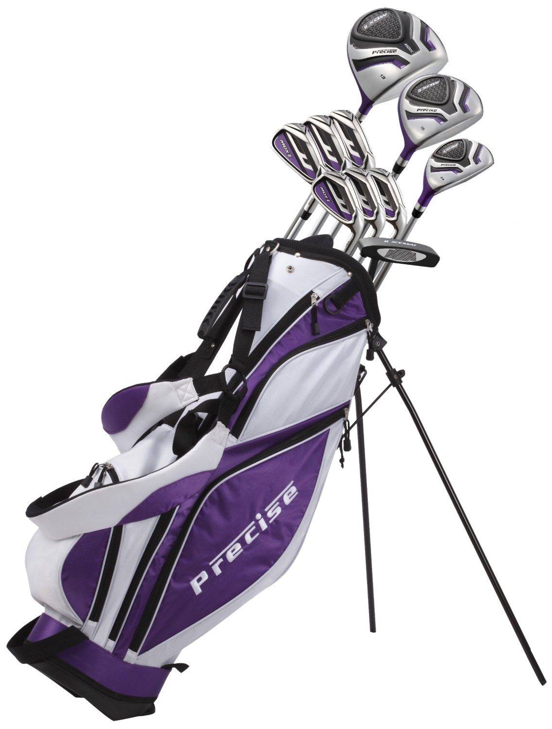 Precise Premium Women's Tall Complete Set, MDX II Ladies, Right Hand, Purple
