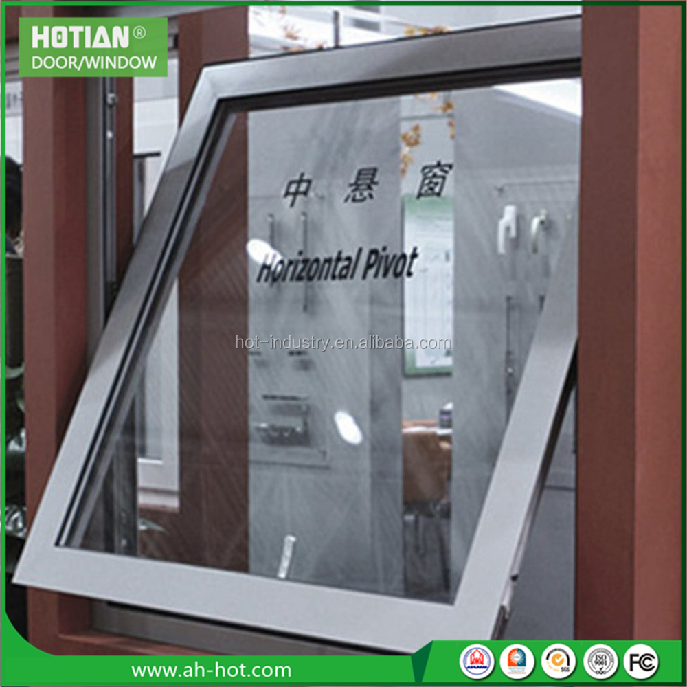 Horizontal Pivot Window Design Aluminum Hung Window Vertical Folding Window