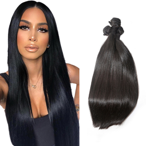 Unprocessed Natural soft remy Brazilian hair extension in factory price