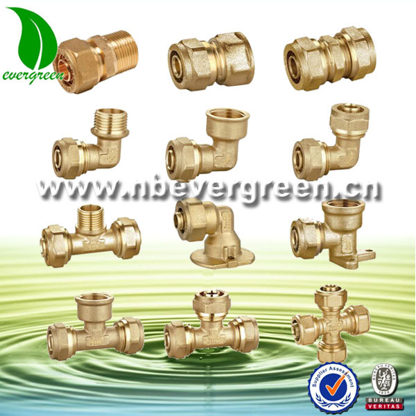 Good quality compression brass BSPT 12 mm end threaded cap