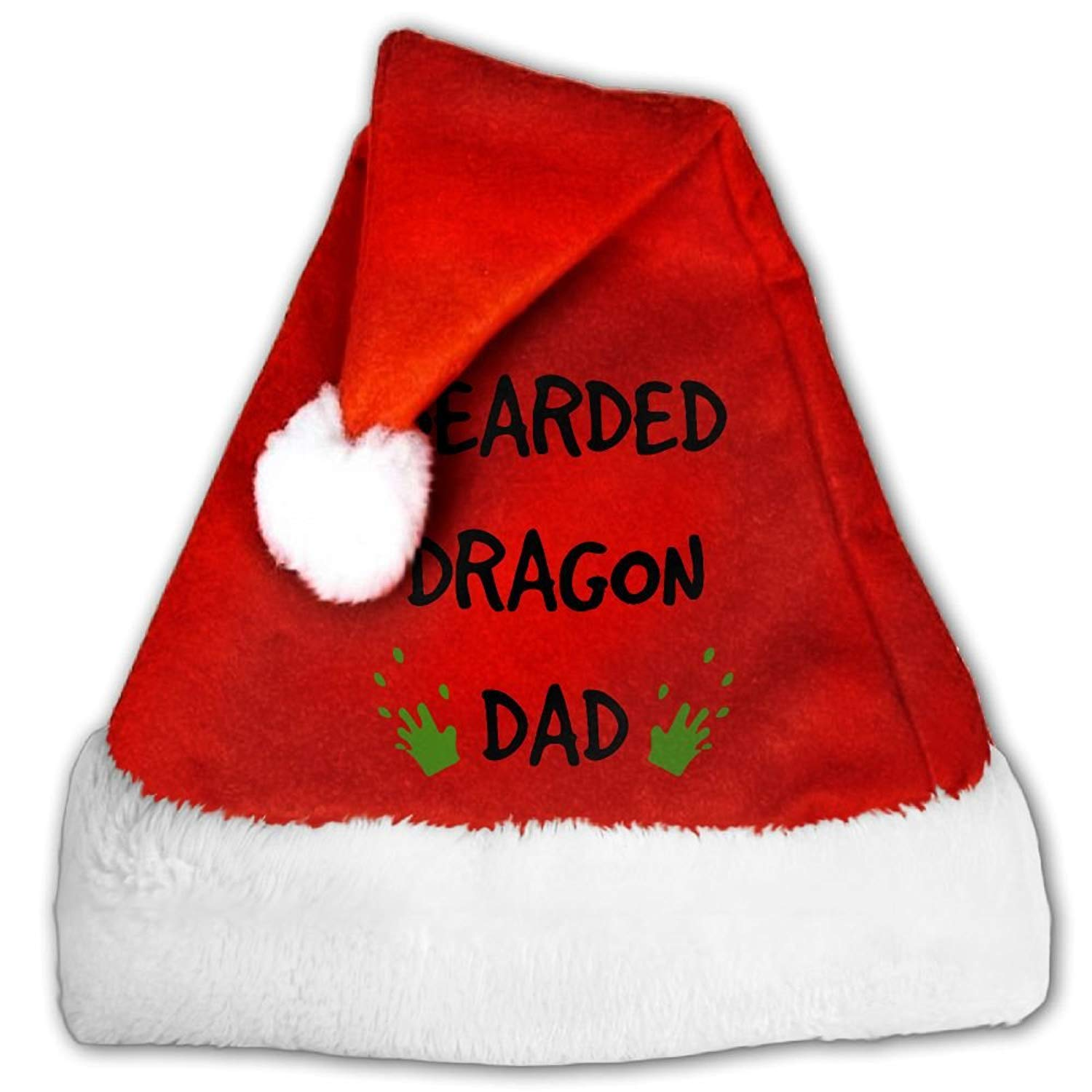 5af34aab2c03e Chrihapy Asmlie Bearded Dragon- Bearded Dragon Daddy Father Santa Hat Plush Christmas  Hat Decorations For