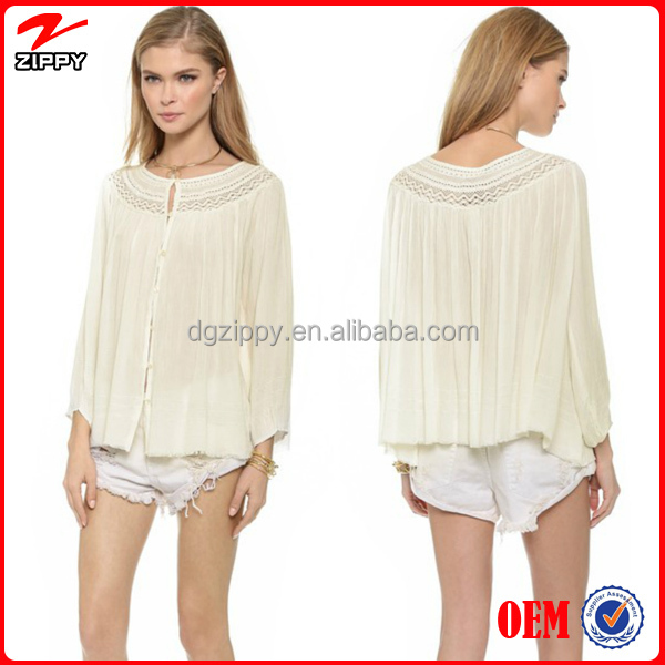 Wholesale Ladies Tops Latest Design /long Sleeve Chiffon Tops ...