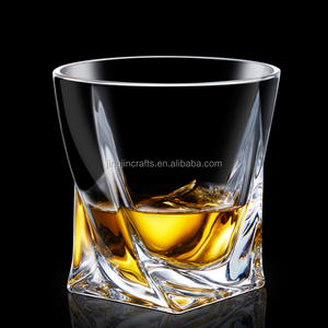 Square crystal glass cup drinking whisky cup