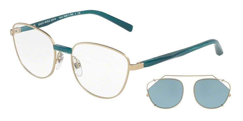 5d8a21ca94 Get Quotations · Alain Mikli Rx Eyeglasses Frames A02024 001 80 52-18-140  Gold Petrol