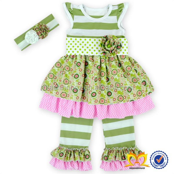 2016 Vintage Bohemia Style Flower Pom Pom Romper Little Girls ...