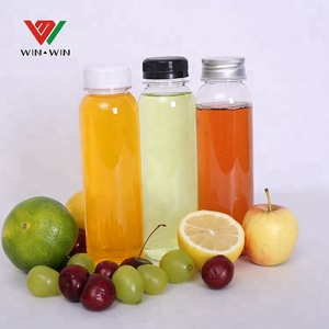 Disposable 300ml Plastic PET Lemon Juice Bottle