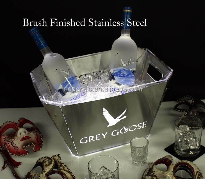 Grey Goose Vodka Ice Bucket Plastic Bottle Holder Bar Wine