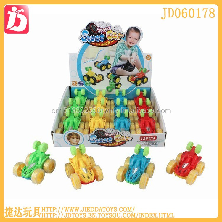 Mini cartoon car toys friction stunt car anti-impact mini