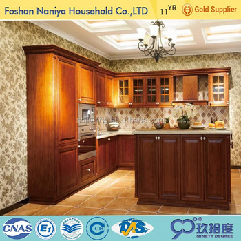 2016 Hot Sell Solid Wood Kitchen Cabinet For Pantry Cupboards Sri