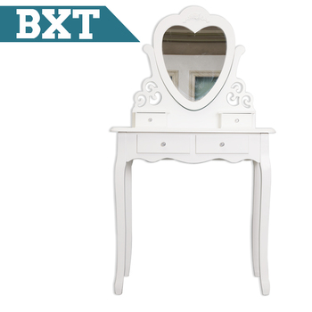 Simple Design White Color Dresser with Mirror
