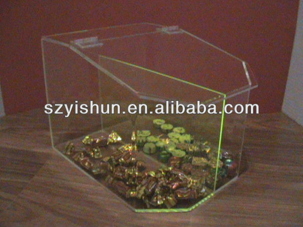 Manufacturing acrylic container acrylic containers candy bin