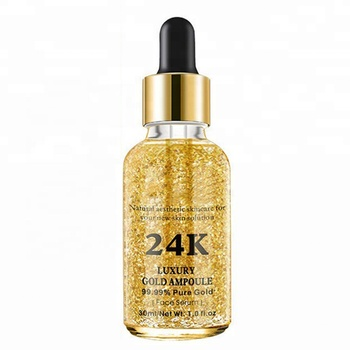 Private Label Pure Gold Vitamin C Whitening 24K Gold Face Serum 24K Gold Serum