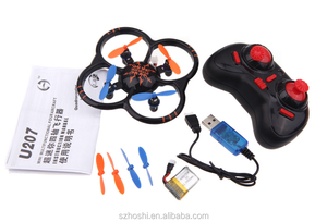 U207 6 Axis Gyro 4CH remote control helicopter mini Drone RC Quadcopter UFO Toys with LED Lights.