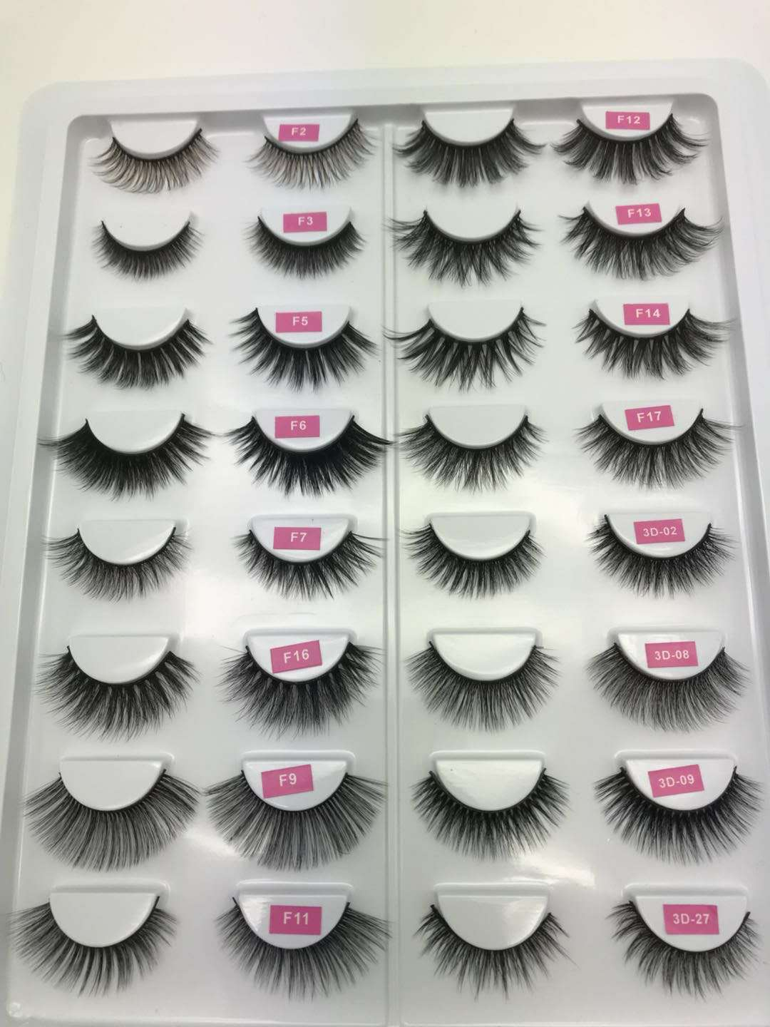 Dramatic long custom package mink eyelash 3d mink lash flower tray private labelmink fluffy lashes vendor