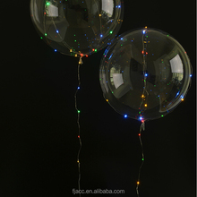 christmas new decoration led string lights bobo balloon party transparent helium balloon