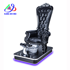 Salon furniture Factory wholesale high back massage foot spa throne pedicure chair