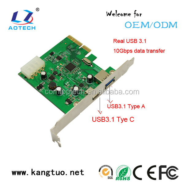 Pci-e To 2-port Usb 3.1 Mini Pci-e Graphic Card Express Card For ...