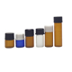 China supplier amber clear blue 1dram 1 ml 2 ml 3ml 5ml small glass vials bottle with orifice reducer black white screw cap
