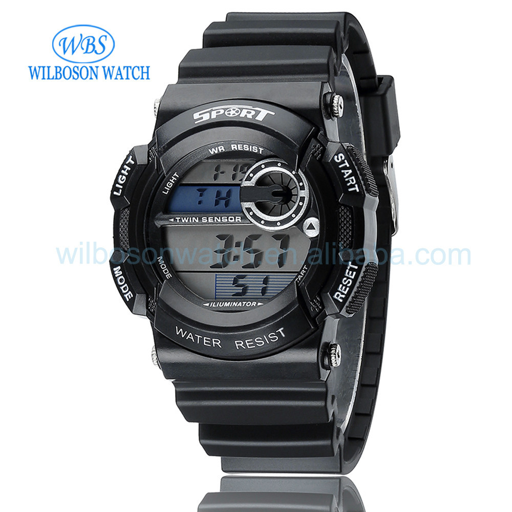 Fashion men sport digital watch with 3 ATM waterproof