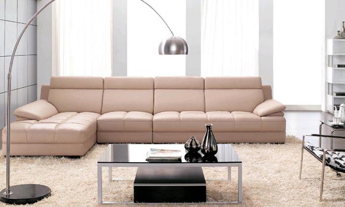 captivating shape sofa living room sets | Furniture living room leather Sofa Top Grain Leather L ...