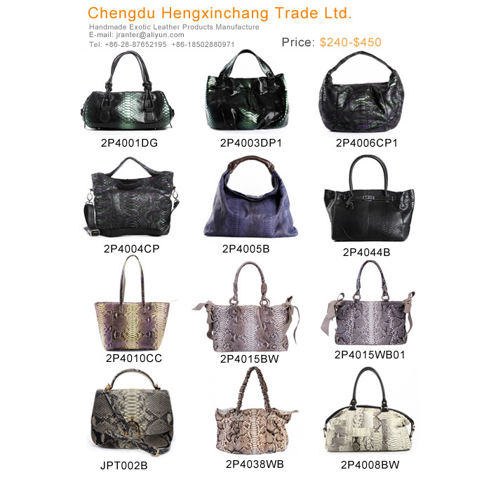 luxury snake skin handbag genuine leather handbags wholesale custom women tote bags