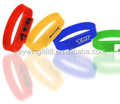 Custom Promotion silicone wristband USB jump drive