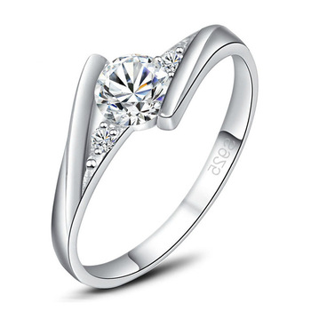 Korean Shining Ladies Wholesale Cheap Full Diamond Wedding Rings
