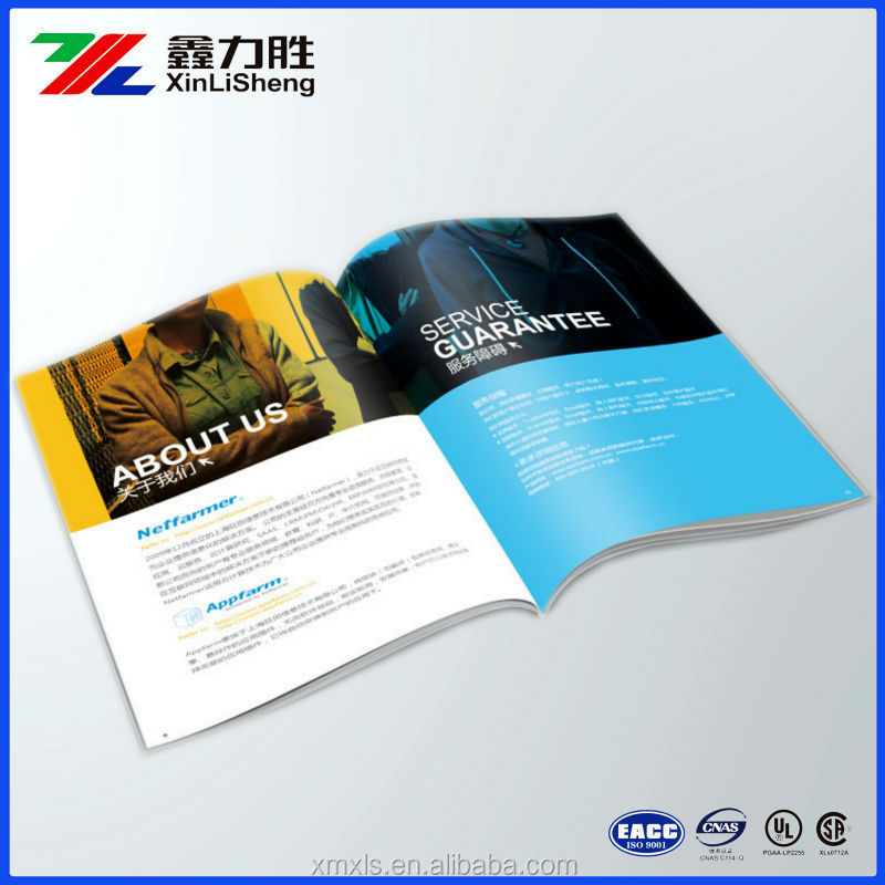 Custom Printed Promotional Brochure Booklet MagazinesCatalog