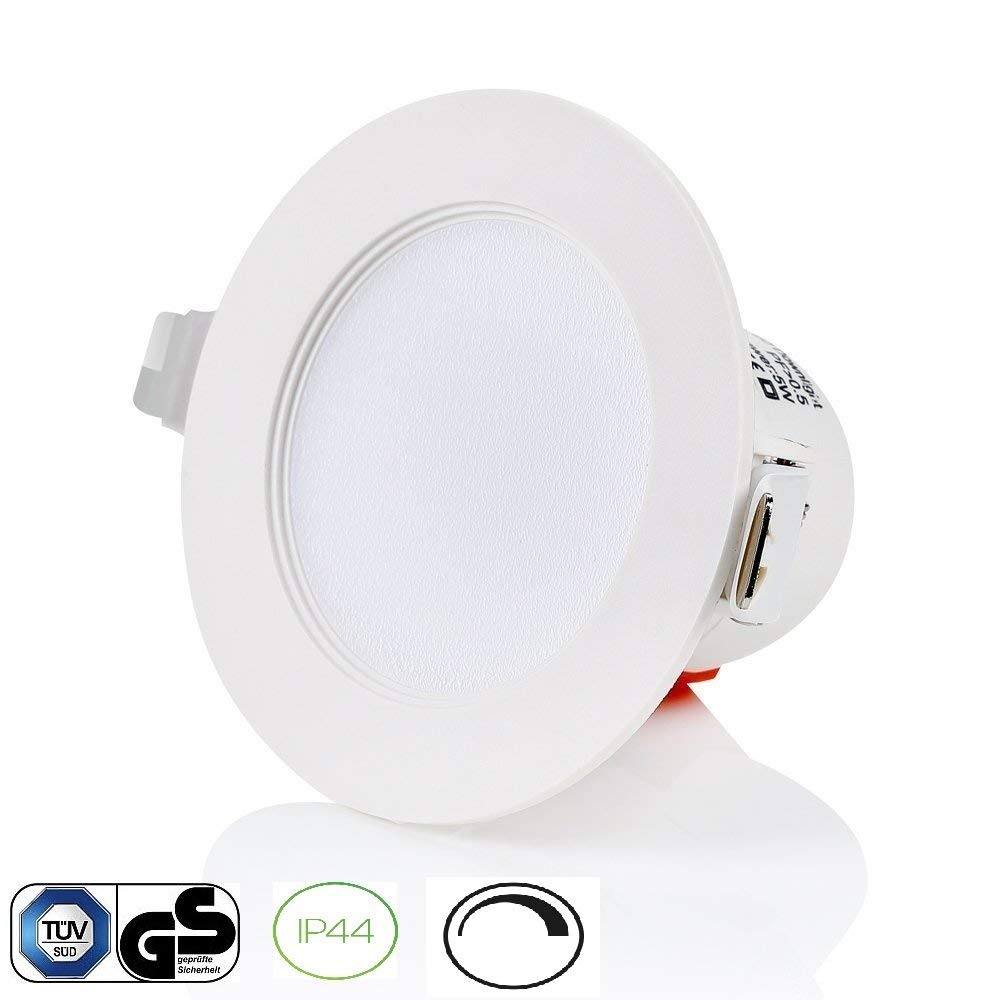 3 inch recessed led down light 8w waterproof ip44 for bathroom kitchenroom