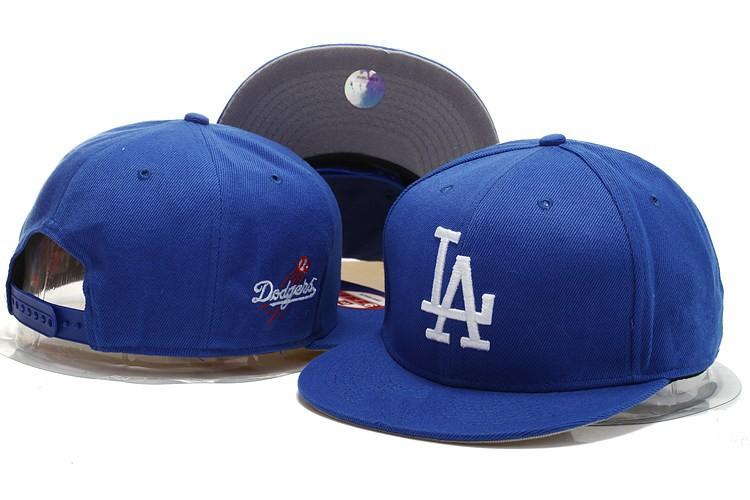 e671ed9b374 Get Quotations · Classic Blue Team Color Los Angeles Dodgers Snapback Hats  Sport Flat LA Baseball Adjustable Caps Free