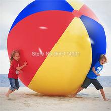 Бесплатная доставка Высокое качество Гигантский 80-200 см надувной пляжный мяч морской бассейн игрушка для воды четыре цвета пляжный мяч(Китай)