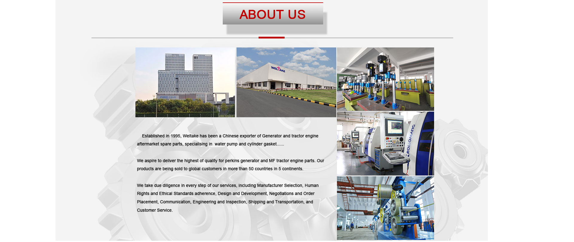 Weltake Import Export Company Limited - Tractor Parts