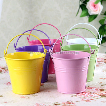 Wholesale easter gift bucket small colored metal bucket with wholesale easter gift bucket small colored metal bucket with handle negle Image collections