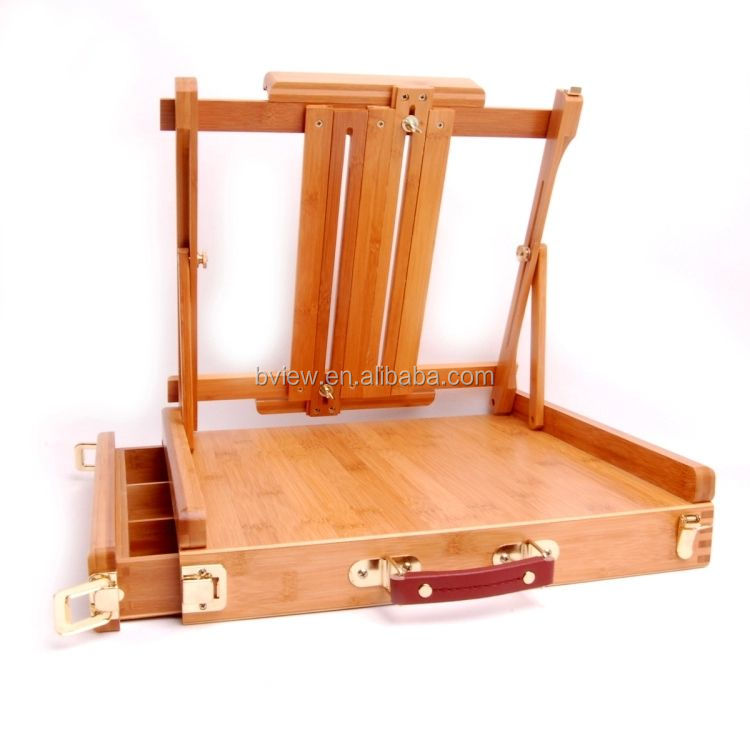 Big Desk Easel With Box brush Box Easel table Easel For