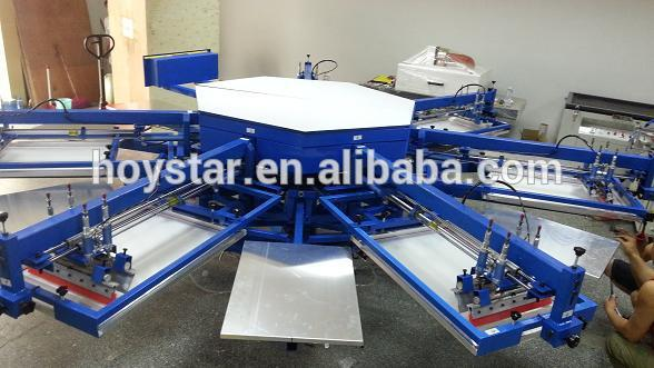 6 color screen printing machine