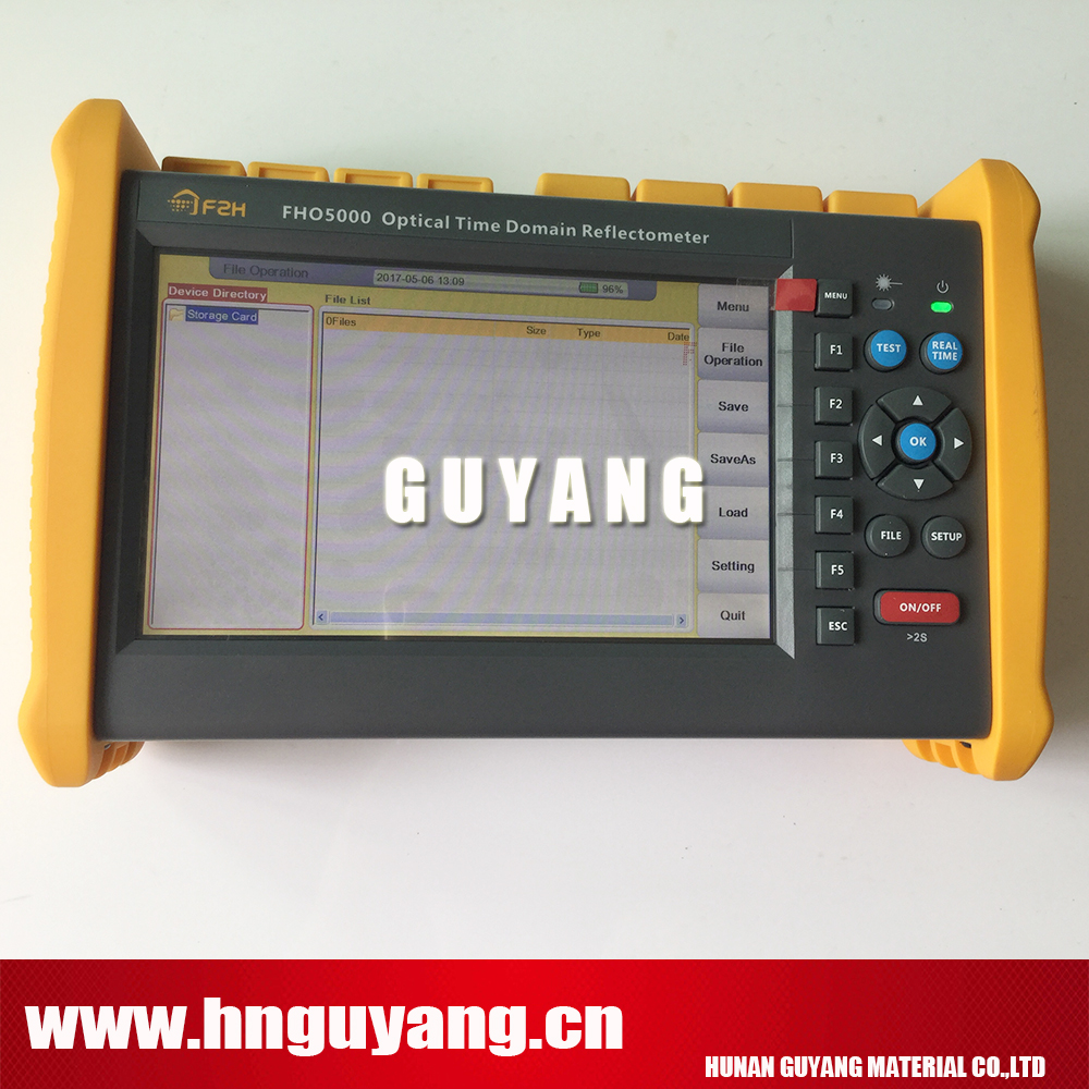 GU5000-D35 Fiber Optical OTDR 1310/1550nm 35/33dB, Built-in OPM OLS VFL, with Touch Screen, Reports Print Software, Carry bag
