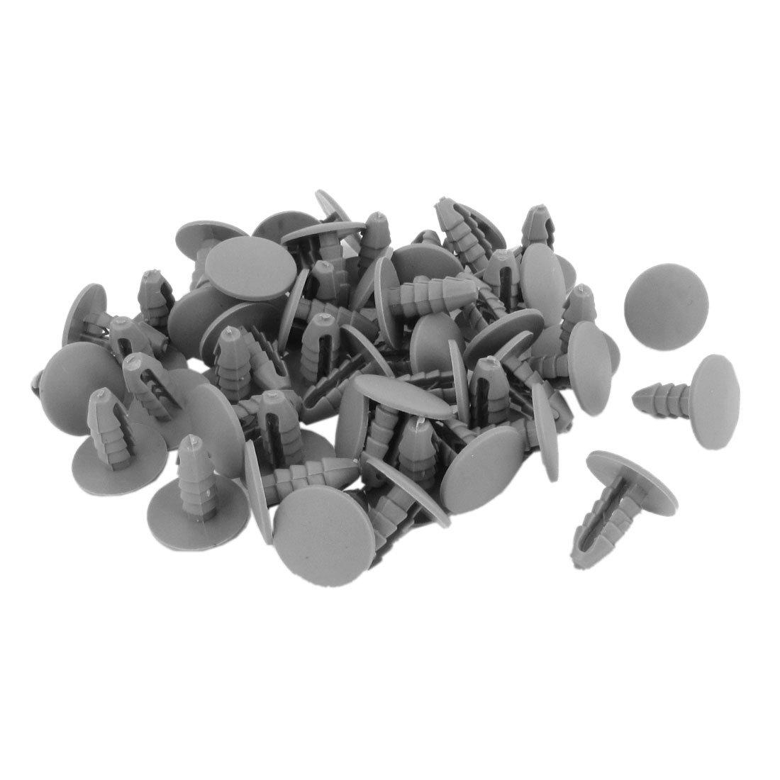 Plastic Rivet - SODIAL(R) 50PCS 8mm Hole Gray Plastic Rivet Door Push in CLip for Car