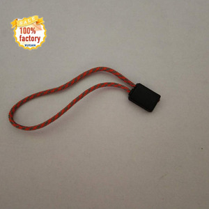 Single part garment blank logo hang tags 13cm square string lock plastic mix color sealing tag